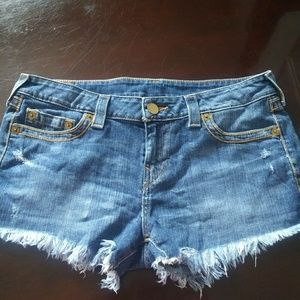 True Religion Jean Shorts